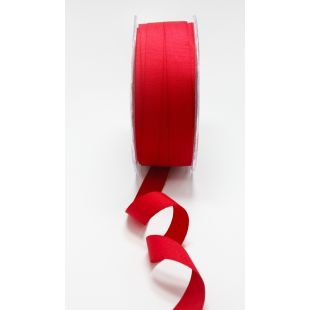 """Faux Canvas Lightweight 5/8"""" Ribbon - Red"""