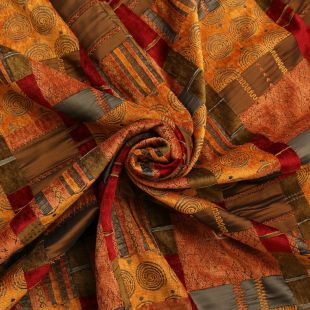 Moroccan Patchwork Tapestry Prague Upholstery Fabric