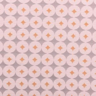 Retro Diamond Circle Luxury Upholstery Fabric