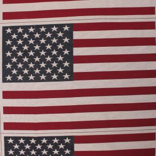 USA Woven Flag Linen Look 70 x 48cm Cushion Panel