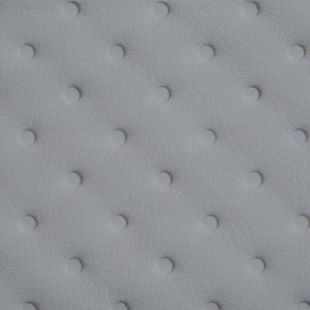 Quilted Faux Leather Fabric -  Debossed Dots - Silver