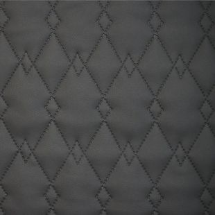 Quilted Faux Leather Fabric -  Diamond Link