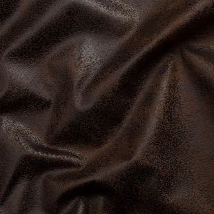 Theo Distressed Faux Suede Upholstery Fabric - Chocolate