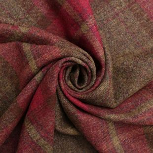 100% British Shetland Wool Traditional Twill Tartan Upholstery Fabric