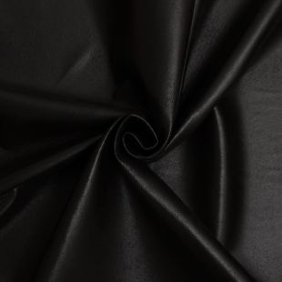 Black Soft Backed Gloss Faux Leather Upholstery Fabric