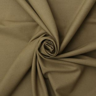 Cotton Panama Craft and Quilting Fabric Plain Olive
