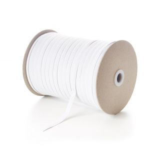 8mm White Elastic - 100 metres