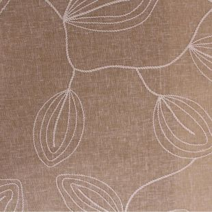Livadi Vine Embroidered Linen Look Upholstery Fabric