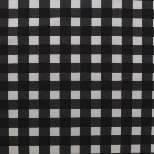 Prestigious Textiles Cotton Picnic Gingham Upholstery Fabric - Black