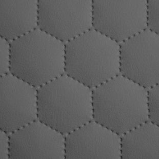 Quilted Faux Leather Fabric -  Hexagon Stitch