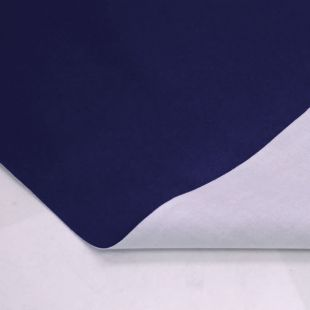 Faux Leather Light Stretch Clothing Upholstery Fabric - Navy