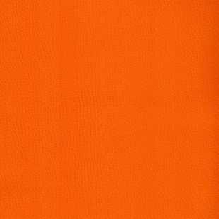 Bright Faux Leather Upholstery Fabric - Bright Orange