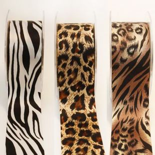 May Arts Animal Print Satin Ribbon 38mm