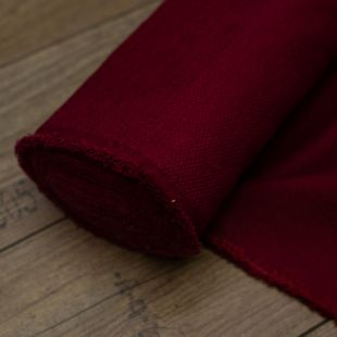 Red Chenille Weave Upholstery Furnishing Fabric