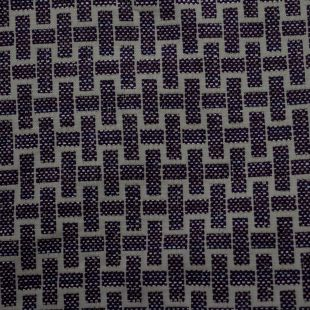 Purple Plaited Pattern   Upholstery Furnishing Fabric