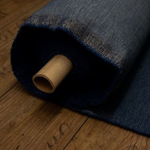 Blue Grain Cotton Upholstery Furnishing Fabric