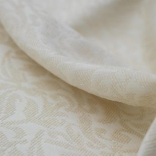 Thick Paisley Cream Cotton Lightweight Furnishing Fabric