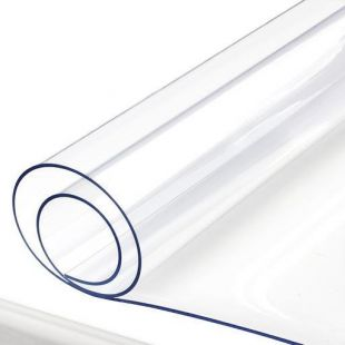 Clear PVC Sheeting Plastic Vinyl Fabric 1mm - 12m Roll