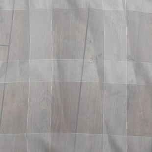 Sheer White Stripe Voile Lightweight Furnishing Fabric
