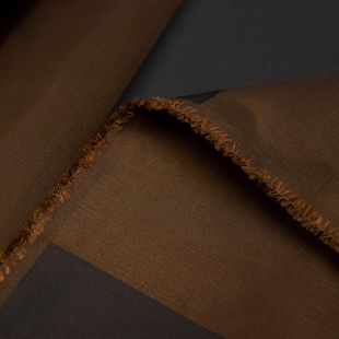 Thick Brown and Gold Stripe Lightweight Furnishing Fabric