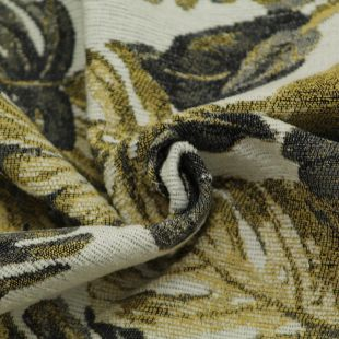 Yellow Palm Leaf Woven Clearance Upholstery Furnishing Fabric