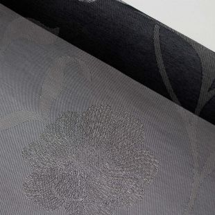 Two Toned Grey Floral Jacquard Lightweight Furnishing Fabric