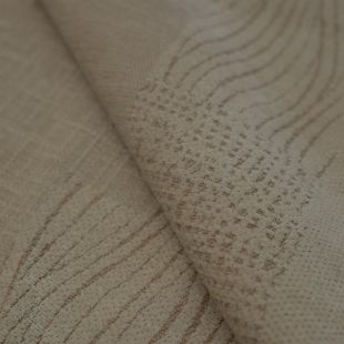 Soft Patterned Cream Chenille Upholstery Furnishing Fabric