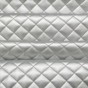 Diamond Quilted Padded Faux Leather Upholstery Fabric
