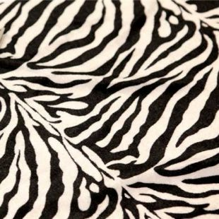 Animal Print Polyester Velour Dress Fabric