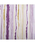 Kodie Art Collection 100% Cotton Striped Upholstery Fabric - Purple