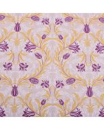Aubergine 100% Cotton  Slubbed Linen Look Upholstery Fabric - Amour Floral