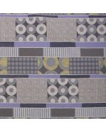 Geometric Patchwork Lilac Upholstery Fabric