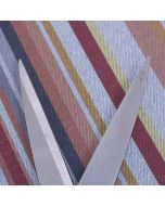 Palermo Woven Stripe Upholstery Fabric - Sunset Red