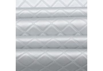 Luxury Bentley Stitch Diamond Embossed Faux Leather Upholstery Fabric