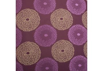 Carnival Floral Jacquard Pattern Luxury Quality Upholstery Fabric - Aubergine Fuchsia Olive