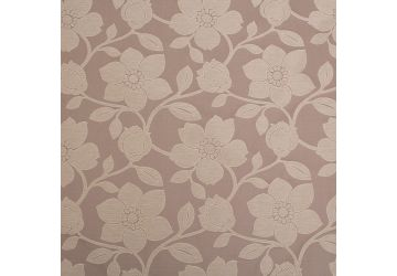 Cadiz Silk Blend Double Jacquard Woven Floral Pattern Curtain Fabric - Black And Beige